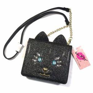 NEW Betsey Johnson Jeweled Cat Crossbody